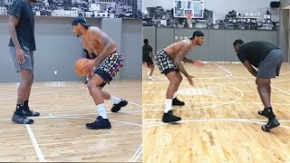 Carmelo Anthony Goes  1-on-1 vs Julius Randle After Teaching Him Moves!