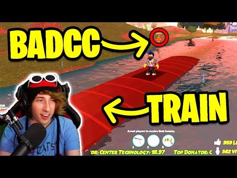 ASIMO3089 BADCC BREAKING THE TRAIN! (Roblox Jailbreak w/MyUsernamesThis)