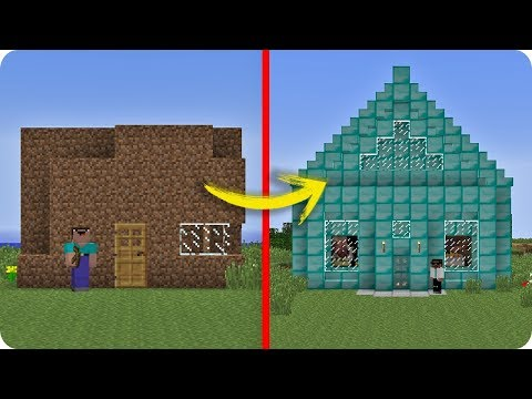 NOOB MINECRAFT VS CASA PRO TROLL NOOB VS PRO EVOLUCIONA EN MINECRAFT