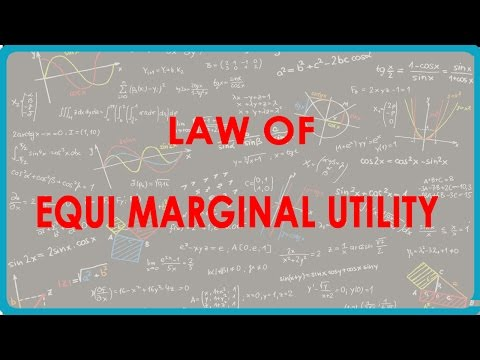 explaining consumer equilibrium through law of equi marginal utility This law explains how the consumer spends his limited income on various   according to the law of equi-marginal utility, the consumer will be in equilibrium  at the point where the utility derived from the last  the theory is weakened by  the fact that many commodities like a car, a house etc are indivisible.