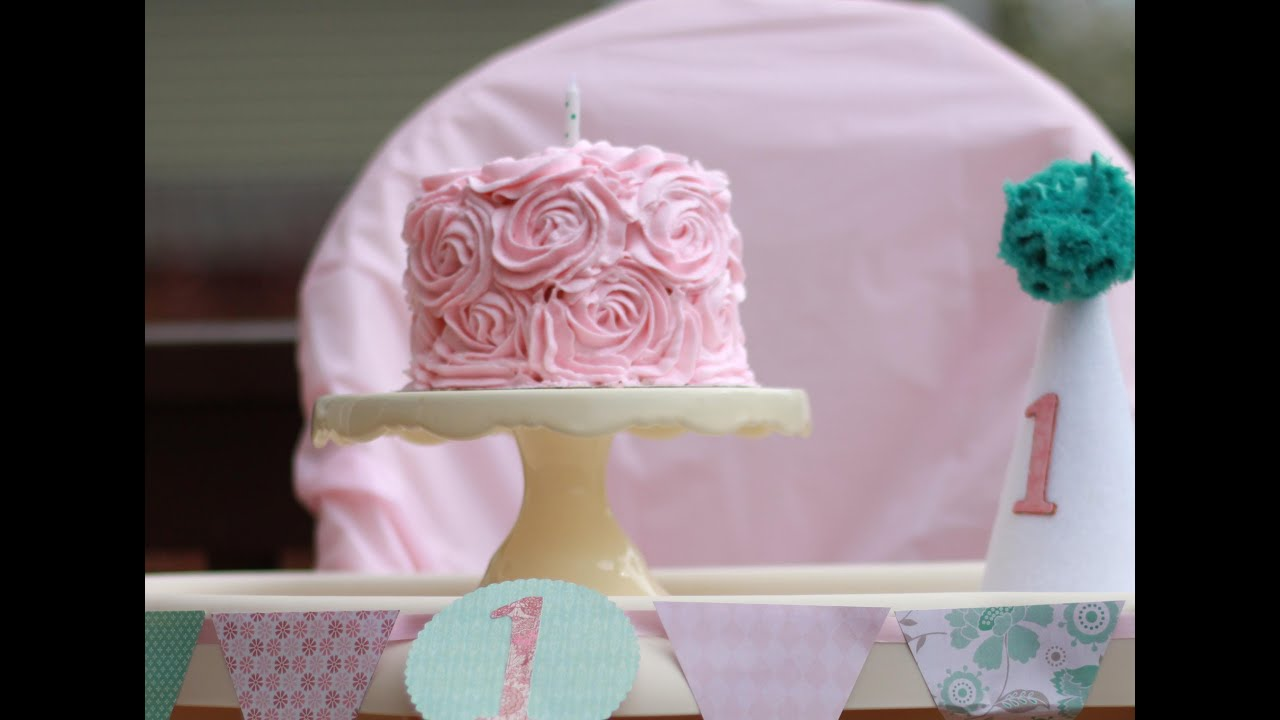 Cake Decorating How To Make Roses : Rose Cake Tutorial - YouTube