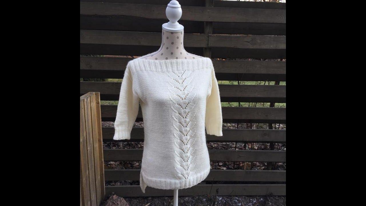 Вязание спицами свитера для начинающих мастер класс 98