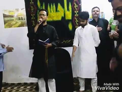Khoo se Rangeen hui karbobala Noha Molana Abid Raza Naushad Gopalpuri