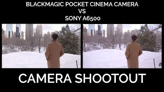 BlackMagic Pocket Cinema Camera (BMPCC) VS Sony A6500 Camera Shootout 4K