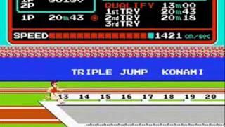 Track & Field (NES) - Round 1 Gameplay