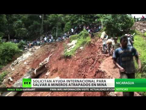 Nicaragua pide ayuda para rescatar a mineros atrapados por un derrumbe