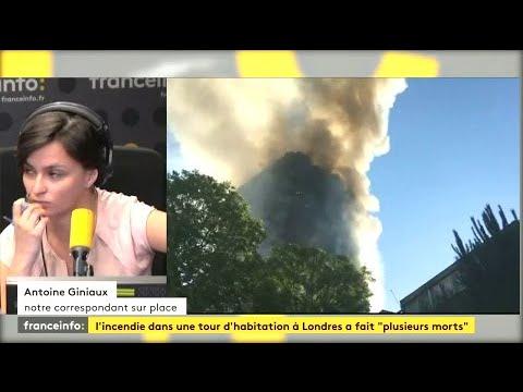 Plusieurs morts dans l'incendie d'une tour d'habitation à Londres