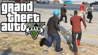 GTA 5 Online - Chicken Crossing Road Game 2! (GTA 5 Funny Moments)