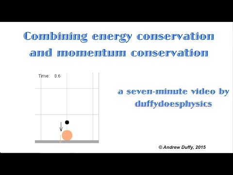 Combining momentum conservation and energy conservation