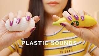 ASMR Plastic Objects Tapping and Scratching (No Talking)