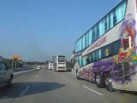 Motorway Bus Driver Convoy Thailand