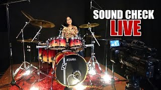 Sound Check My New Drum Set for LIVE Drum Cover - Nur Amira Syahira
