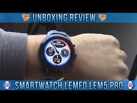 UNBOXING REVIEW SMARTWATCH LEMFO LEM5 PRO 2GB DE RAM Y 16GB DE ALMACENAMIENTO