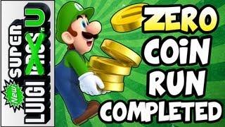 """Zero Coins"" Run Completed - New Super Luigi U Miiverse Challenge"