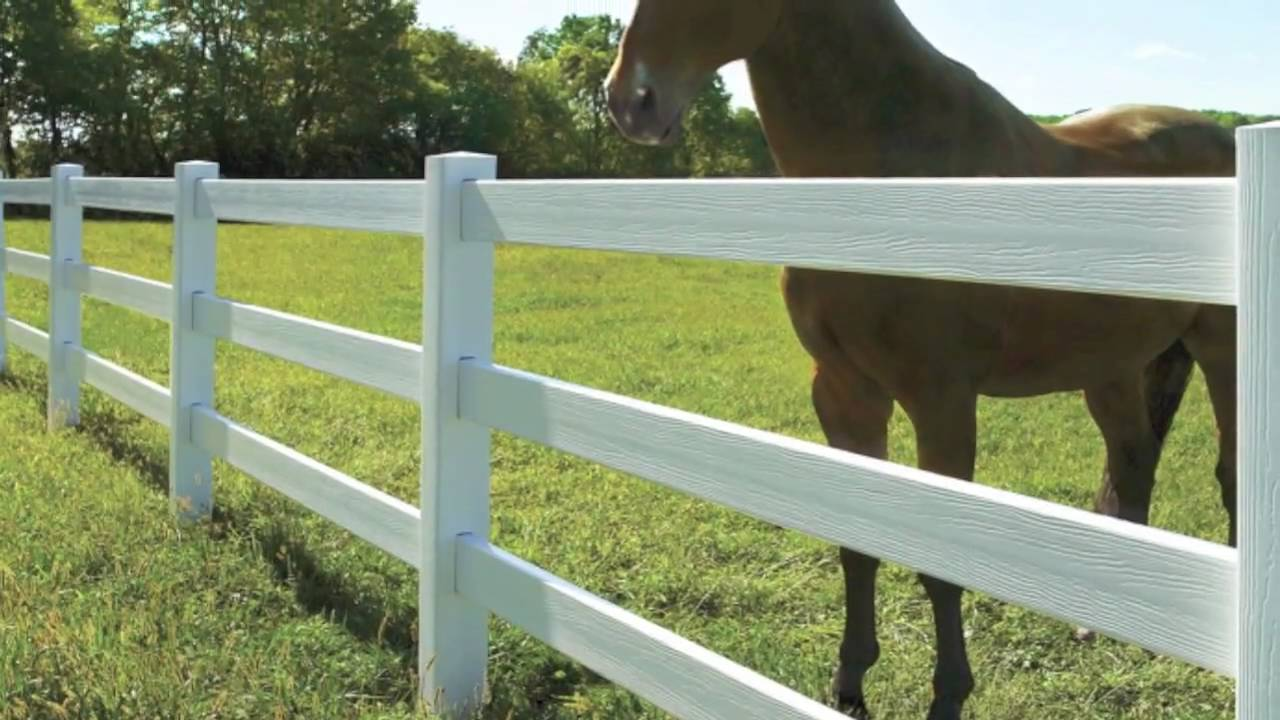Bufftech certagrain post and rail vinyl fence certainteed