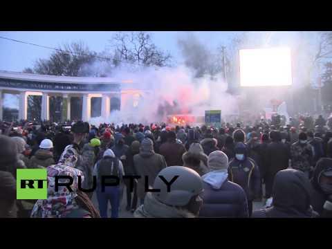 Ukraine:  Peaceful protest turns violent in Kiev