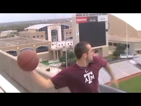 Worlds Longest Basketball Shot | 3rd DECK VIEW | Dude Perfect