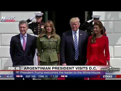 FNN: President Trump & Melania Welcome Argentina President Mauricio Macri and Wife to White House