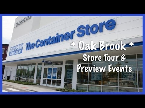 The Container Store, Oak Brook: Store Tour & Preview Events