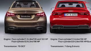 2019 Mercedes A-Class L Sedan vs  Audi A3 Sedan