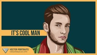 Tutorial Vector Portraits - it's cool man (Using Adobe Illustrator cc.2015)