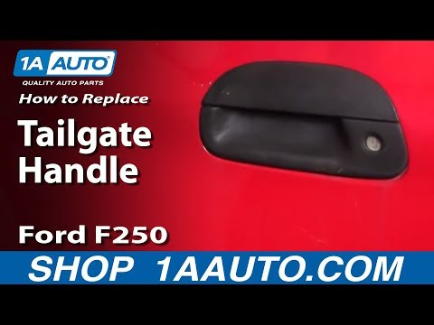 How To Install Replace Tailgate Handle Ford Super Duty F250 F350 97-06 1AAuto.com