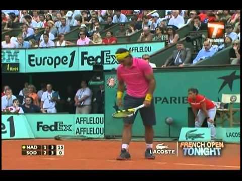 Nadal vs Soderling, French open 2009, Set 4
