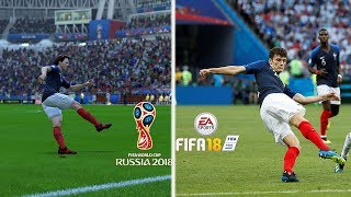 Recreación MEJORES GOLES DEL MUNDIAL RUSIA 2018 EN FIFA