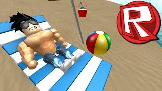 Roblox FUN DAY AT THE BEACH TYCOON!! BUILD IN THE SAND IN ROBLOX!!