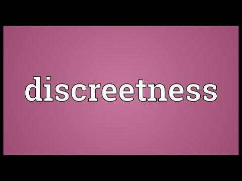 Header of discreetness