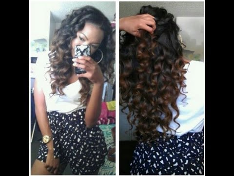 Big messy curls (Curling Wand Curls on KCY)