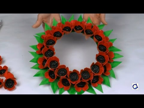 Poppy wreath craft for remembrance day youtube - Remembrance day craft ideas ...