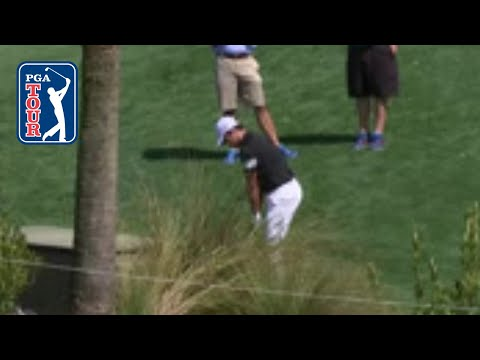 Si Woo Kim's eagle chip shot from the cart path at THE PLAYERS