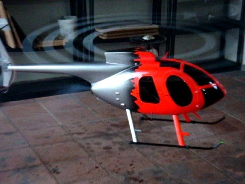 MD 530F Thunder Tiger (Raptor 50 Titan) Scale Rotor and Lights !!