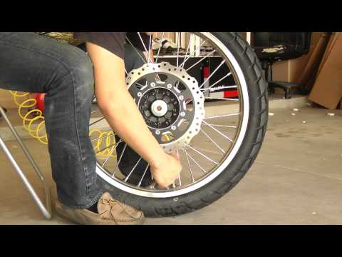 Changing the Front Tire on a 2009 KLR 650 Part 2 of 2