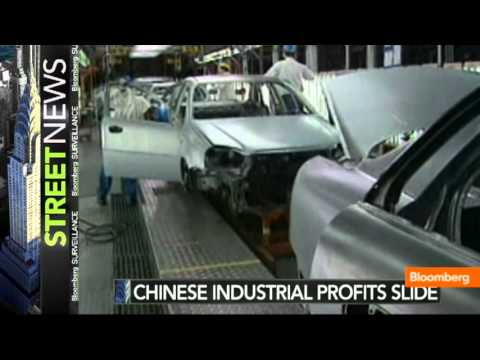 China Sees Industrial Profits Slide for Fifth Month