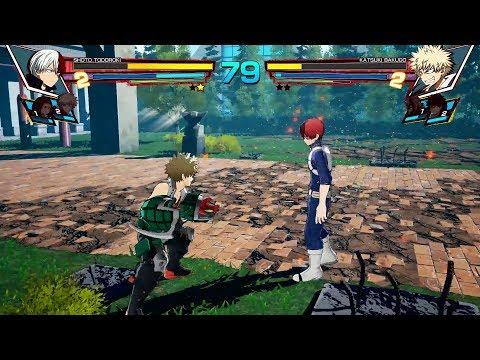 My Hero Academia: One's Justice - Bakugou vs Todoroki Full Match Gameplay (1080p)