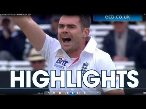 James Anderson's 300th Test wicket - England v New Zealand highlights,...