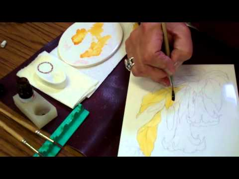 Watch Porcelain Painting with Lustre by Jackie Halhead, UK