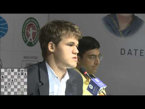 Game 9 - Post Match Press Conference with Viswanathan Anand and Magnus Carlsen