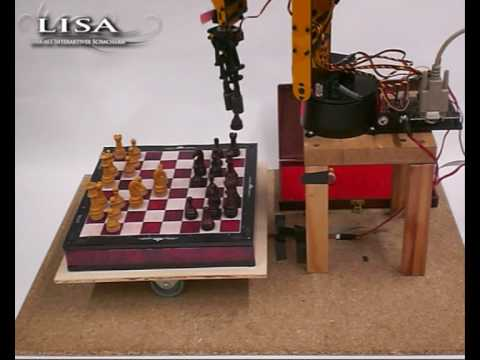 "robotic arm ""LISA"" playing chess"