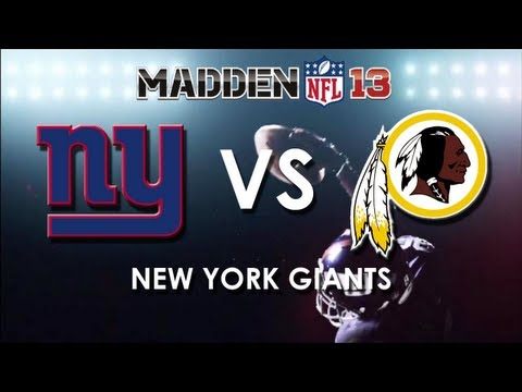 MADDEN 13: New York Giants vs. Washington Redskins