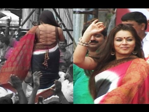 Hottie Mahima Choudhary  in String Choli And Saree  At Dahi...