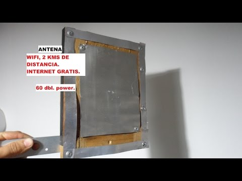 antena wifi con latas de refresco 60 dbl ,internet gratis.MUY POTENTE