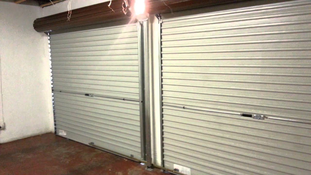 Steel Roll Up Garage Door Automated Youtube