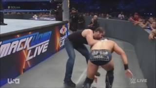John Cena & Dean Ambrose vs AJ Styles & The Miz  (2016)
