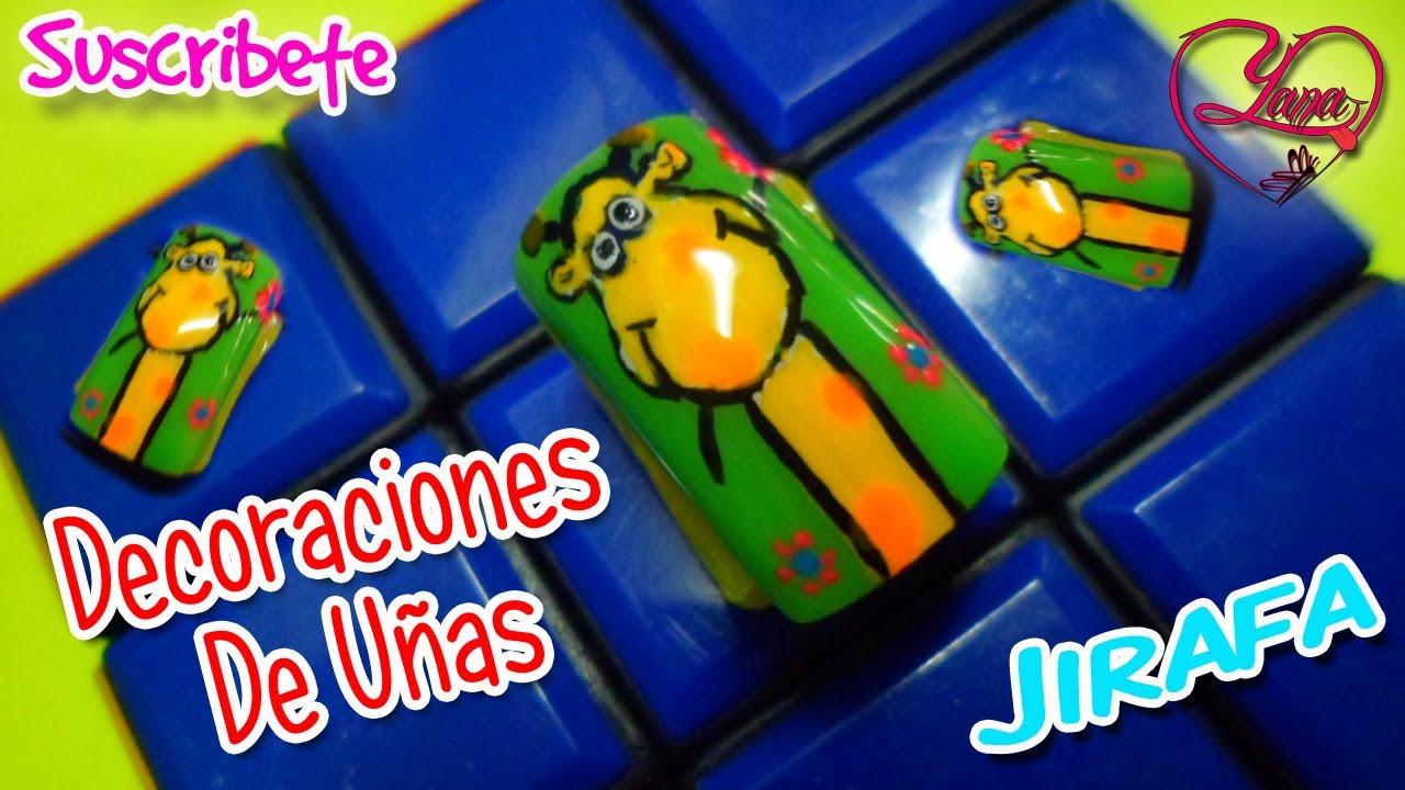 36 decorados de u as jirafa yana youtube - Decorados de unas ...