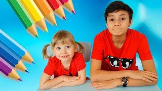 Funny children at school Kids pretend play Compilation for toddlers