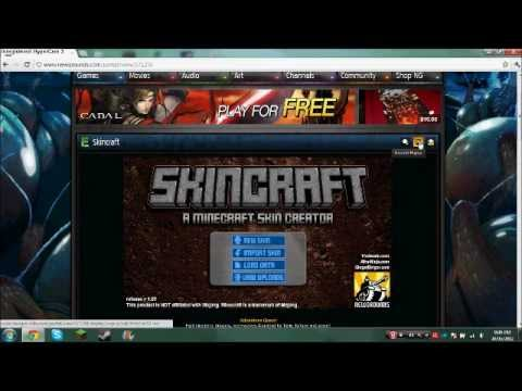 How to make a skin for minecraft and upload it (using skincraft)