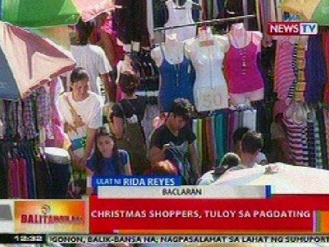 BT: Christmas shoppers, tuloy ang pagdating sa Baclaran